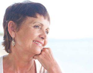 portrait of a beautiful older woman