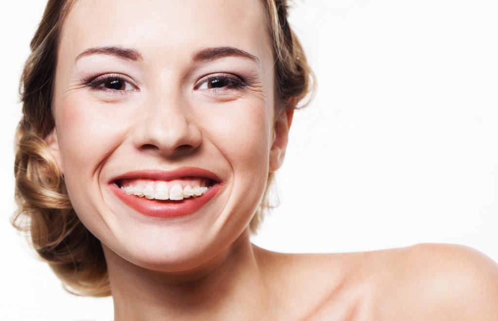 Patient with clear braces