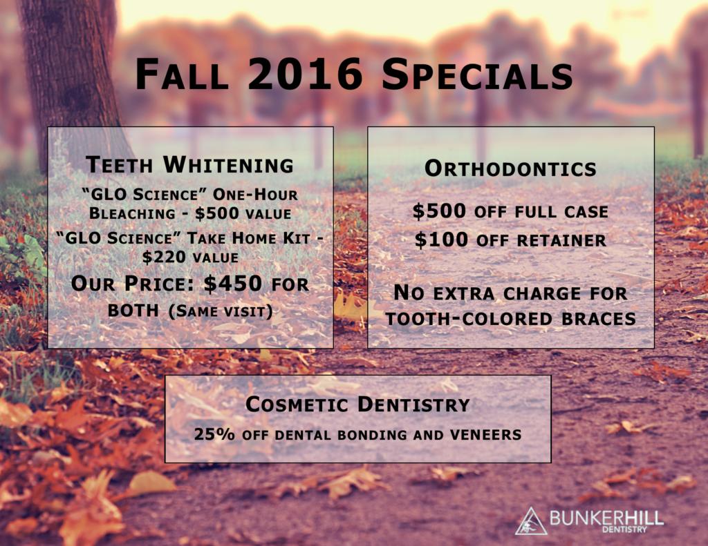Bunker Hill Dentistry Fall Specials