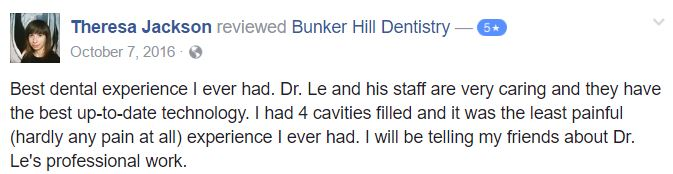 Bunker Hill Dentistry Facebook Review