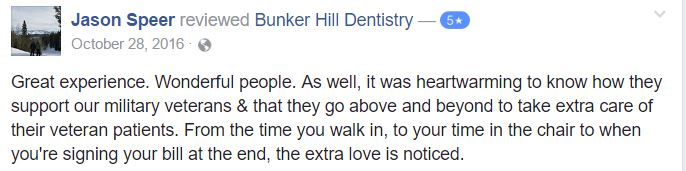 Bunker Hill Dentistry Facebook Reviews