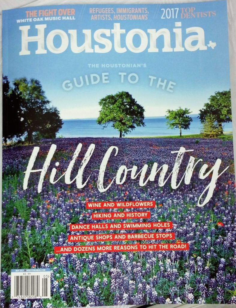 Houstonia Magazine cover